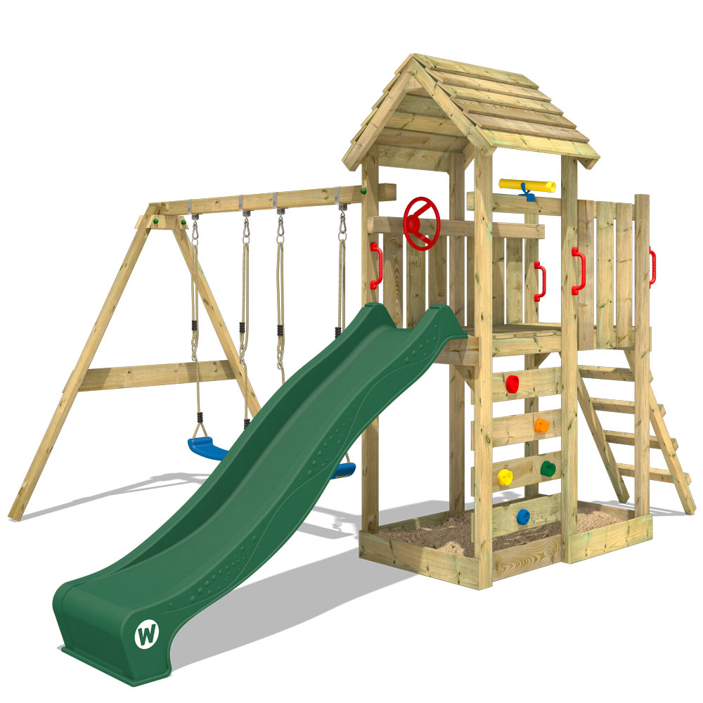 Image of Wickey Climbing frame with wooden roof MultiFlyer